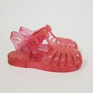 Cat & Jack Pink Flitter Sandals 5-6